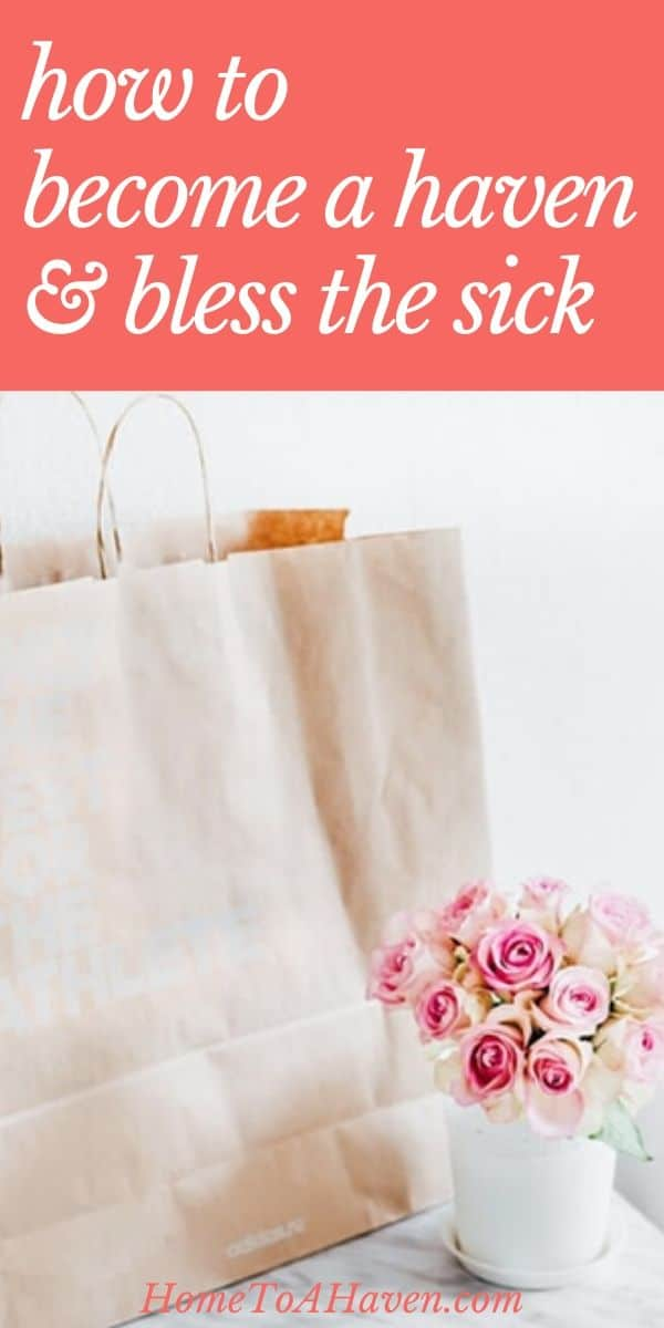 Shopping bag and bouquet of roses